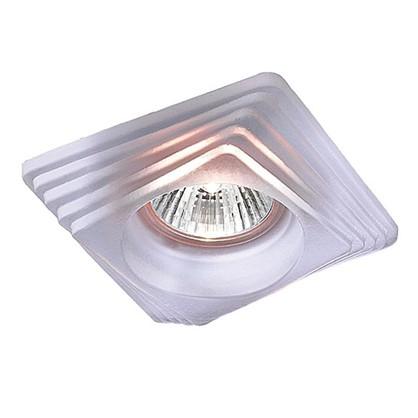 Спот встраиваемый Glass квадратный цоколь GU5.3 50 Вт цвет белый