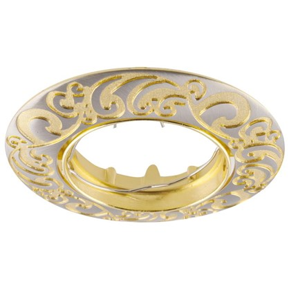 Спот встраиваемый Henna цоколь GU5.3 50 Вт цвет никель/золото