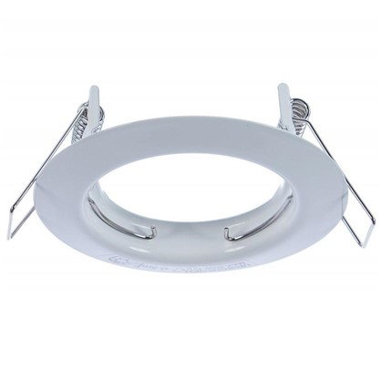 Спот встраиваемый круглый цоколь GU5.3 сталь цвет белый