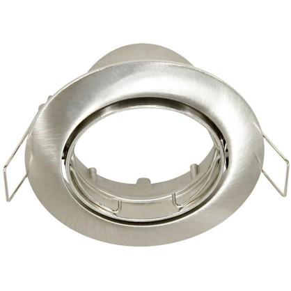 Спот встраиваемый поворотный круглый GU5.3 алюминий цвет никель
