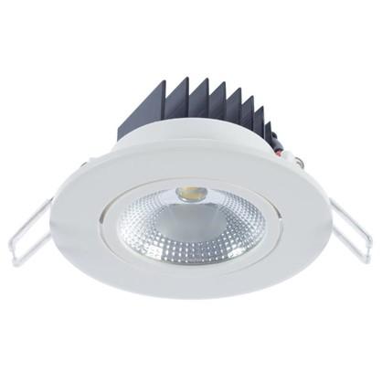 Спот встраиваемый светодиодный 5 Вт 375 Лм 3000 К круг белый цена