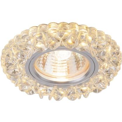 Купить Спот встраиваемый светодиодный цвет зеркальный/прозрачный дешевле