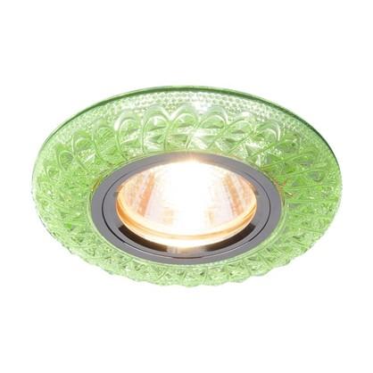 Спот встраиваемый Turin с подсветкой цвет зеленый