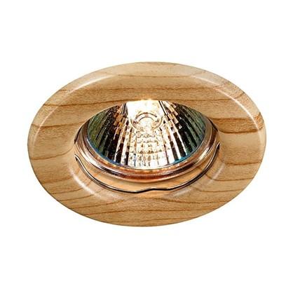 Спот встраиваемый Wood цоколь GU5.3 50 Вт цвет светлое дерево