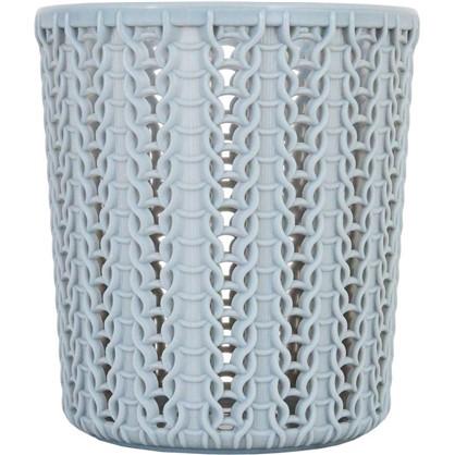 Стакан для зубных щеток Вязание 100х110 мм цвет серый