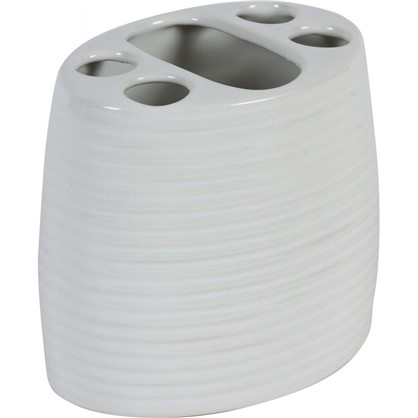 Стакан для зубных щеток Lilyum цвет белый