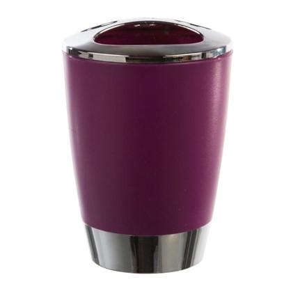 Стакан для зубных щеток настольный Альма пластик цвет фиолетовый