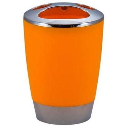 Стакан для зубных щеток настольный Альма пластик цвет оранжевый