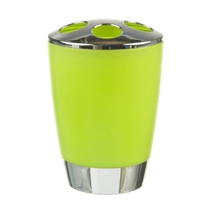 Стакан для зубных щеток настольный Альма пластик цвет зеленый