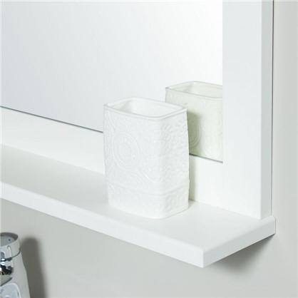 Стакан для зубных щеток настольный Ажур керамика цвет белый