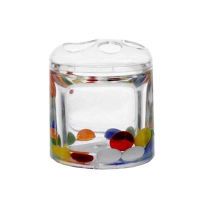 Стакан для зубных щеток настольный Puppy цвет прозрачный