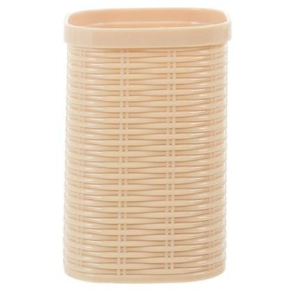 Купить Стакан для зубных щеток настольный Swensa Rotang пластик цвет бежевый дешевле