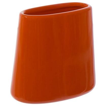 Стакан для зубных щеток настольный Veta керамика цвет оранжевый