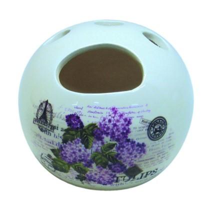 Стакан для зубных щеток настольный Vidage Violetta керамика цвет белый