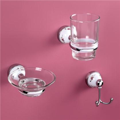 Стакан для зубных щеток подвесной Rose цвет прозрачный