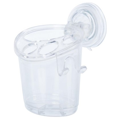 Стакан для зубных щеток подвесной Вакуум цвет прозрачный