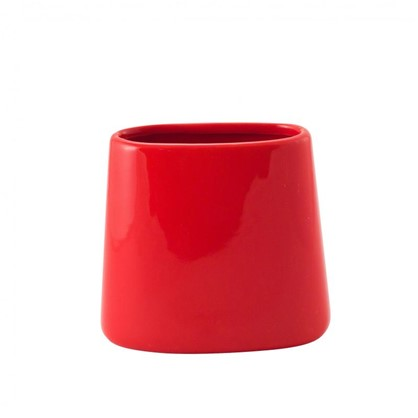 Стакан для зубных щеток Veta керамика цвет алый