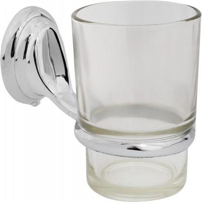 Стакан подвесной для зубных щеток металл/стекло цвет хром