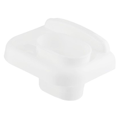 Стакан подвесной для зубных щеток Prime пластик цвет белый