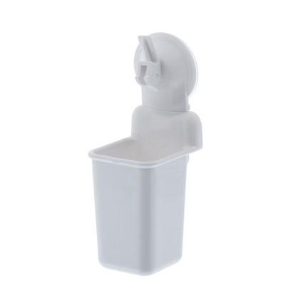 Стакан подвесной для зубных щеток присоска Easy Solution цвет белый