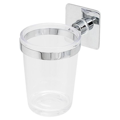 Стакан подвесной для зубных щеток Square одинарный прозрачный