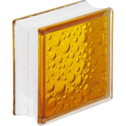 Купить Стеклоблок Богема Савона цвет ярко-медовый дешевле