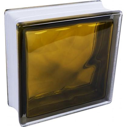 Купить Стеклоблок Богема Волна цвет ярко-бронзовый дешевле