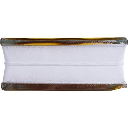 Купить Стеклоблок Богема Волна цвет ярко-медовый дешевле
