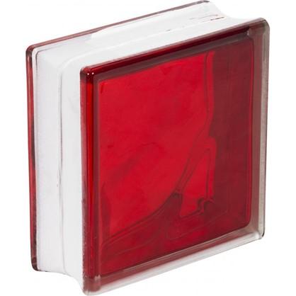 Купить Стеклоблок Богема Волна цвет ярко-рубиновый дешевле