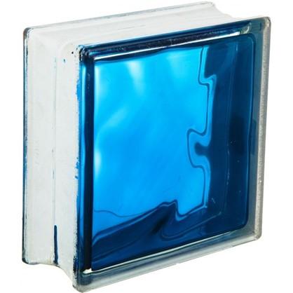 Купить Стеклоблок Богема Волна цвет ярко-синий дешевле