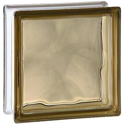 Купить Стеклоблок Богема Волна окрашенный в массе цвет бронзовый дешевле