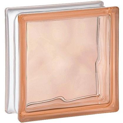 Купить Стеклоблок Богема Волна окрашенный в массе цвет розовый дешевле