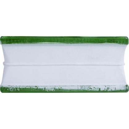 Купить Стеклоблок Богема Волна окрашенный в массе цвет зелёный дешевле