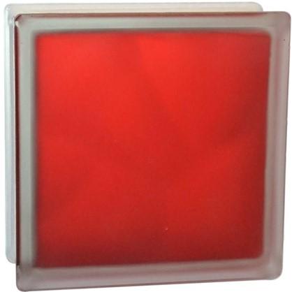 Купить Стеклоблок Волна цвет ярко-рубиновый полуматовый дешевле