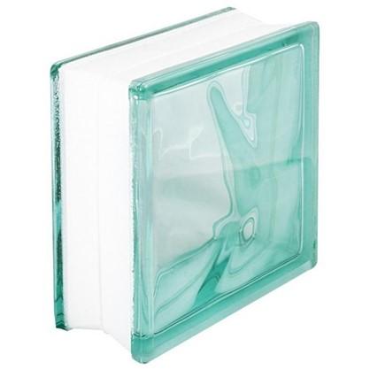 Купить Стеклоблок Волна окрашенный в массе цвет бирюзовый дешевле