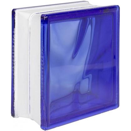 Купить Стеклоблок Волна окрашенный в массе цвет синий дешевле