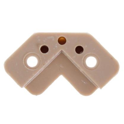 Стеклодержатель угловой пластик цвет бежевый 4 шт.