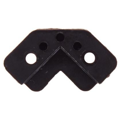 Стеклодержатель угловой пластик цвет венге 4 шт.