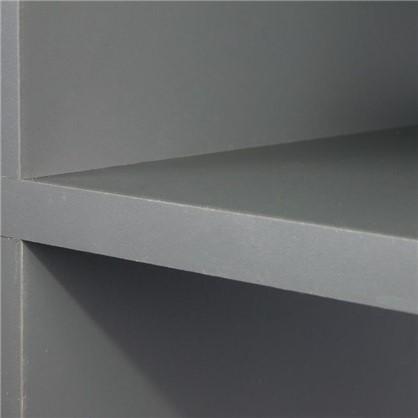 Стеллаж 8 полок 70х137.2х31.5 см ЛДСП цвет графит
