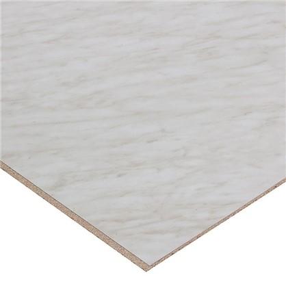 Стеновая панель 3014 60х0.6x300 см ДСП цвет мрамор каррара