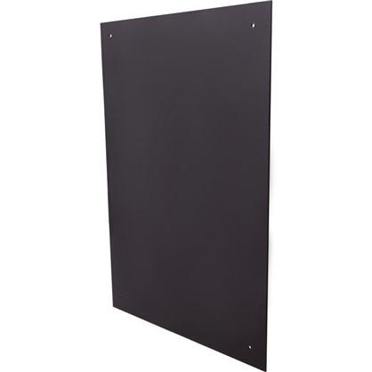 Стеновая панель 90x0.6x60 см стекло цвет черный