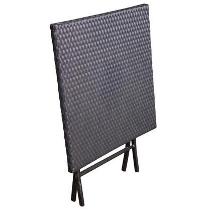 Стол квадратный Париж складной цвет черный