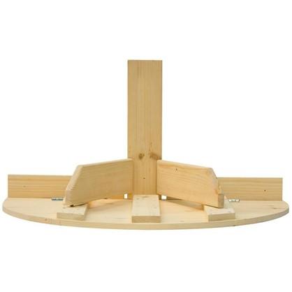 Стол навесной пристенный откидывающийся полукруглый 80x42x50 см