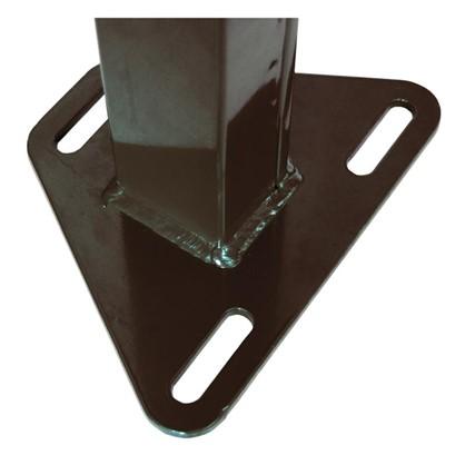 Купить Столб 62х55х2065 коричневый 4 отверстия дешевле