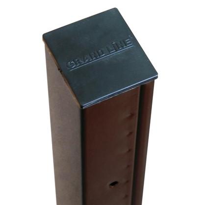 Столб 62х55х2500 коричневый 5 отверстий