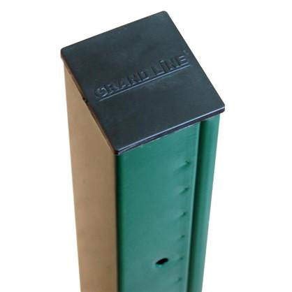 Столб 62х55х2500 зеленый 5 отверстий