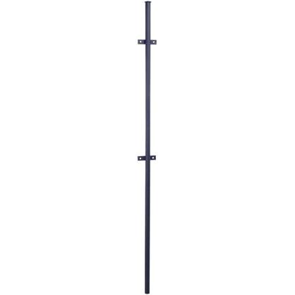 Столб для забора с ушами 2.3 м круглый 40 мм чёрный