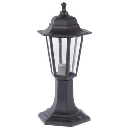 Столб уличный Apeyron малый 6 граней цвет черный