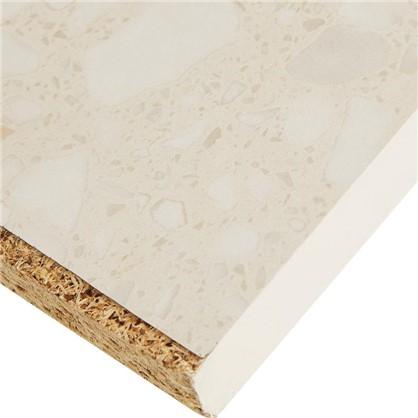 Столешница №905 244х2.6х60 см ЛДСП цвет белые камушки