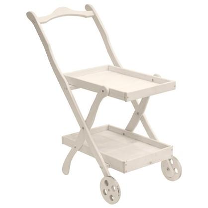 Столик сервировочный Бриз окрашенный с колесами
